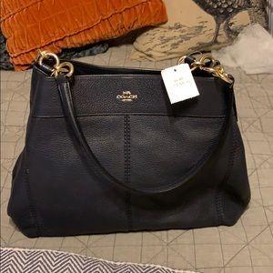 Coach Lexy Pebble shoulder bag - Navy